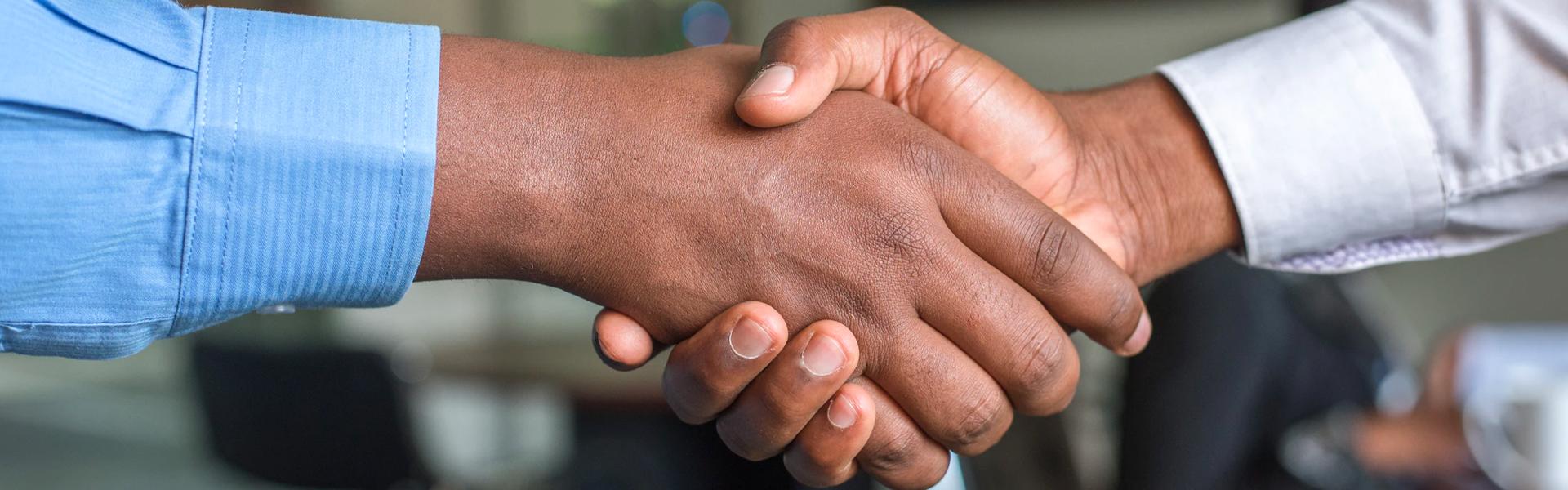 Deux hommes se faisant une poignee de main